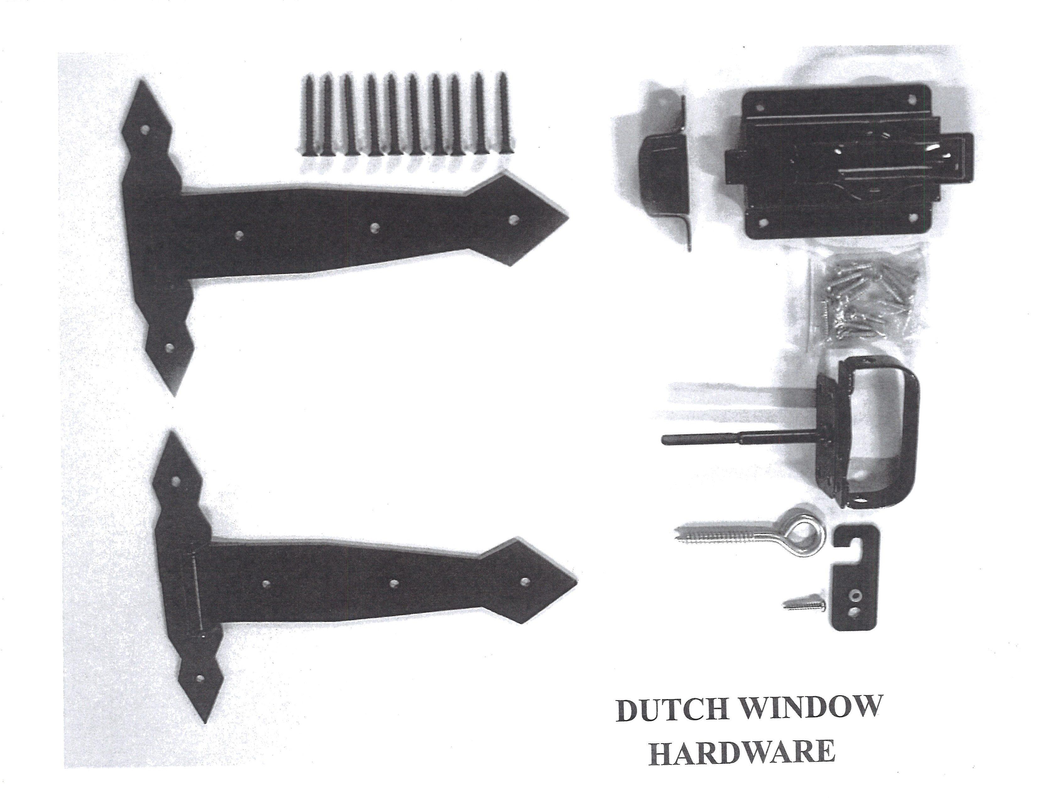 Dutch Window Hardware Set 2 10 Hinges 1 Door Latch
